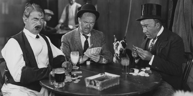 Altes Bild von Pokerspielern