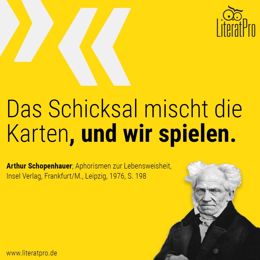 Spruch über das Leben von Arthur Schopenhauer