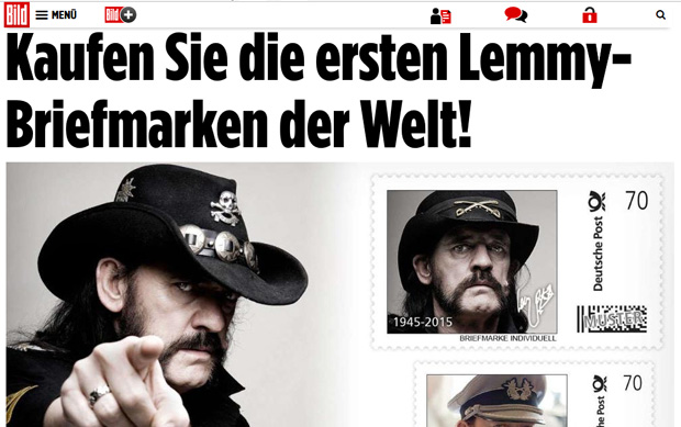 Screenshot von Lemmy Kilmister Briefmarken