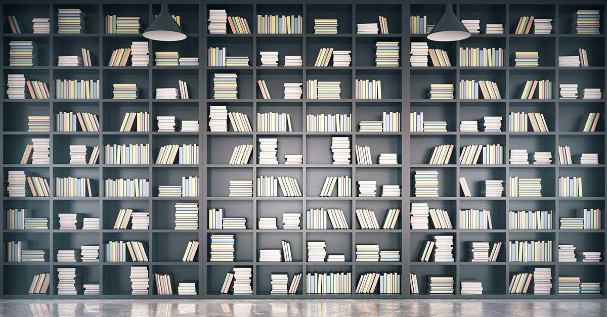 Bild zeigt viele Bücher in einer Bibliothek
