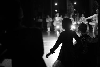Bild aus Theater Schauspieler hinter Bühne