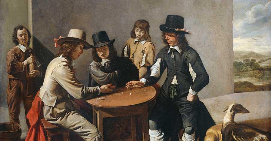 Die Spieler von Mathieu le Nain / Rijksmuseum