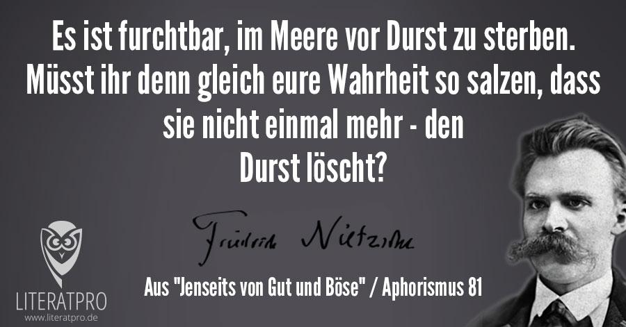 Bild zum Friedrich Nietzsche Aphorismus