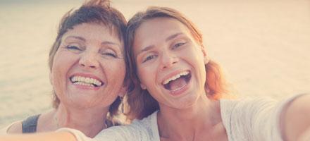 Bild einer Mutter mit Tochter