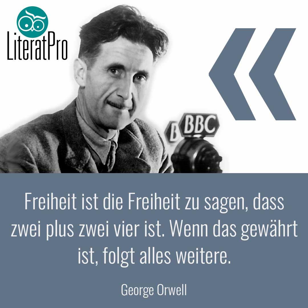 Bild zeigt Zitat von George Orwell