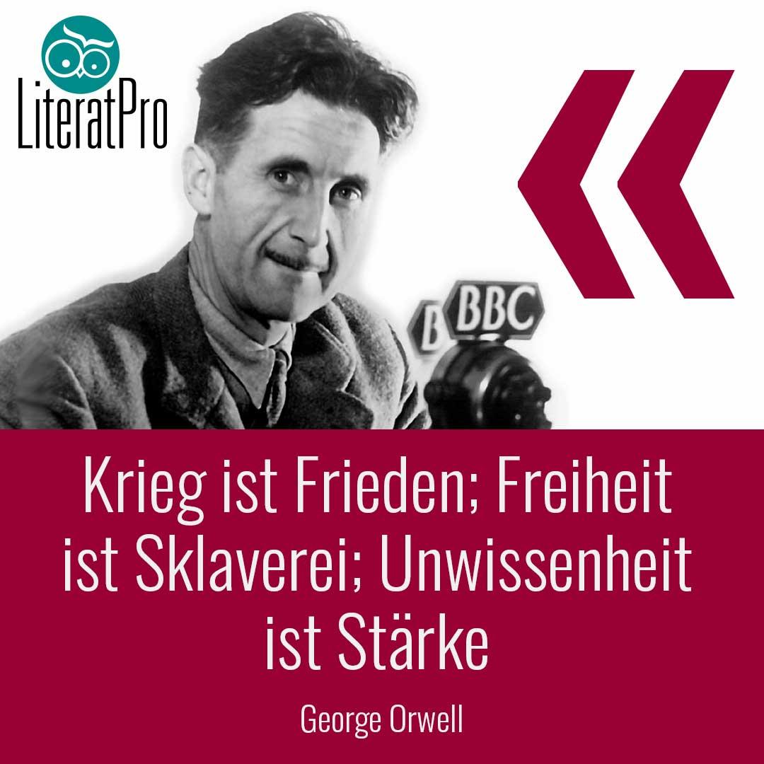Bild zeigt George Orwell Zitat