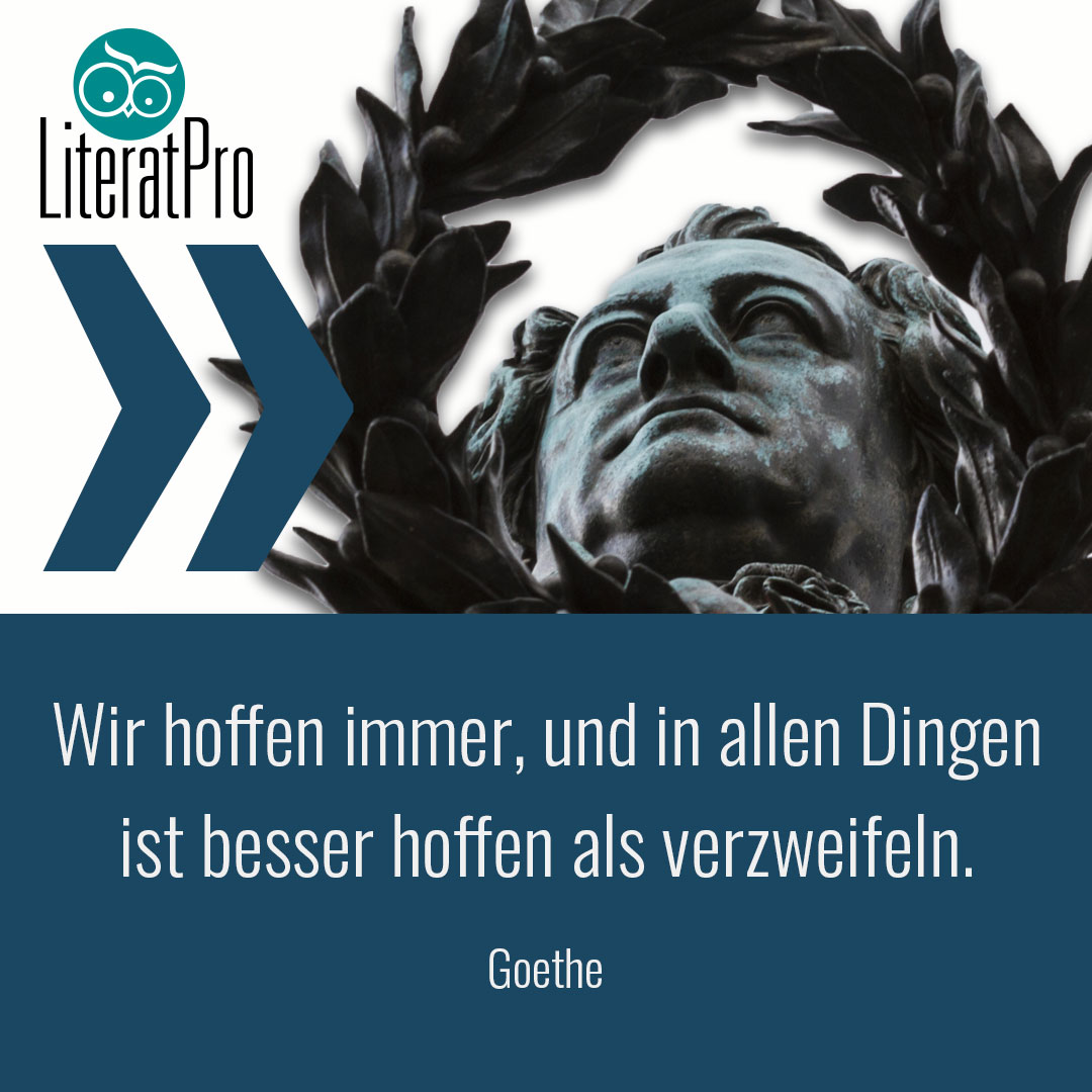 Bild zeigt Aphorismus von Goethe