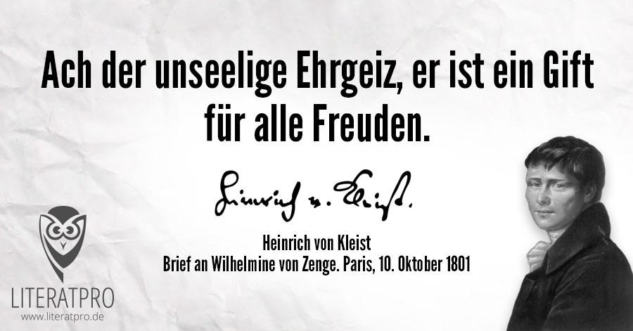 Bild zum Heinrich von Kleist Zitat
