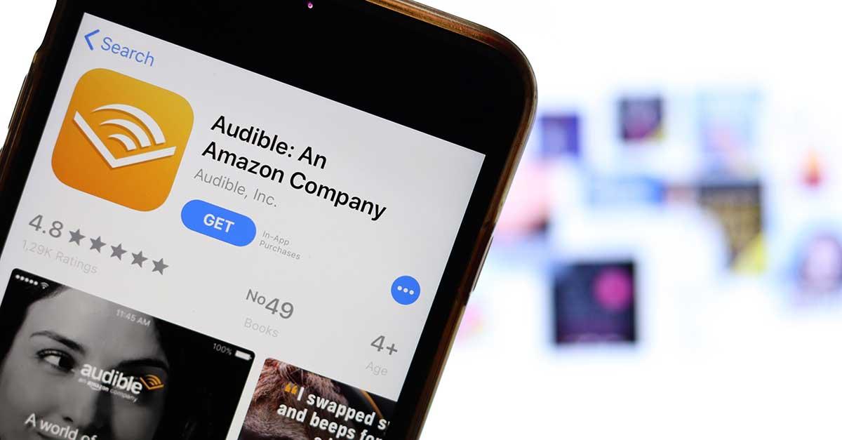 Bild zeigt Audible App auf einem handy