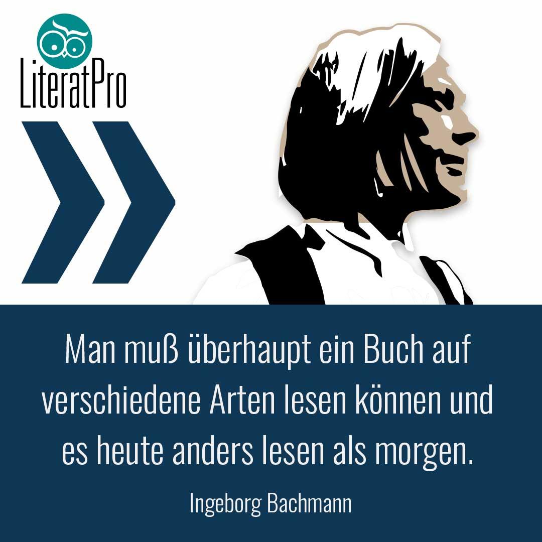Bild zeigt Zitat von Ingeborg Bachmann
