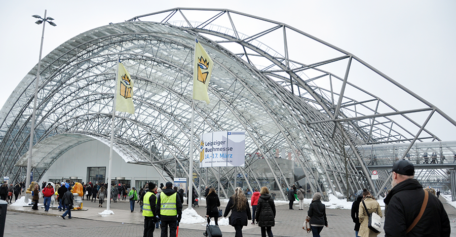 MARCH 14: Public day for Leipzig Book fair on March 14, 2013 in Leipzig, Germany.