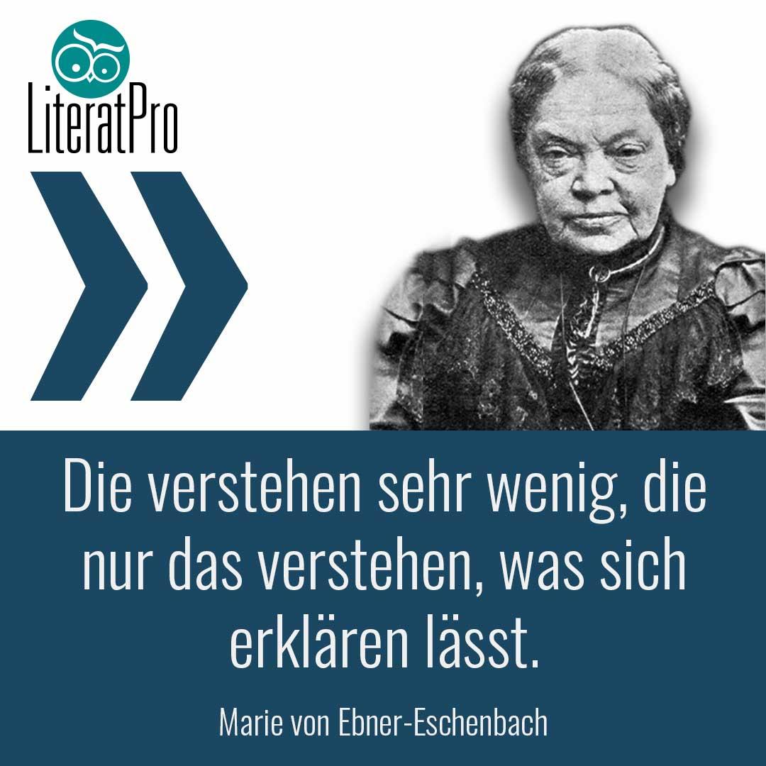 Bild zeigt Marie von Ebner Eschenbach und Aphorismus
