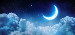 Bild vom Nachthimmel mit Mond