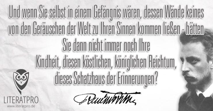 Bilder Spruch Rainer Maria Rilke