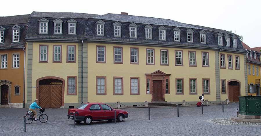 Bild zeigt Goethehaus in Weimar