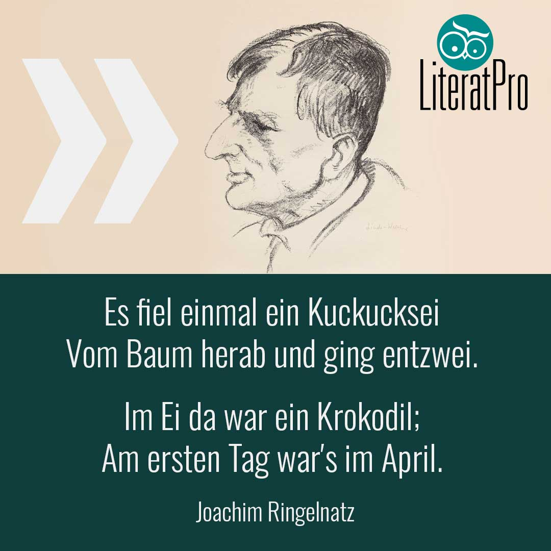 Bild zeigt Joachim Ringelnatz und Gedicht Das Ei