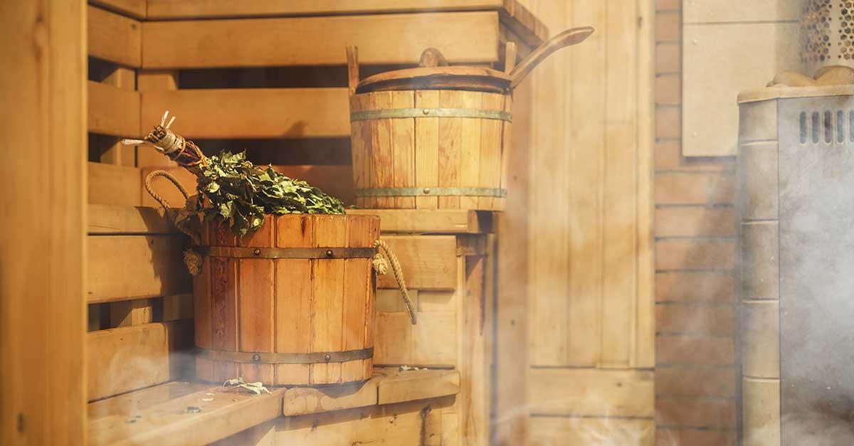 Bild zeigt eine eigene Saune Zuhause