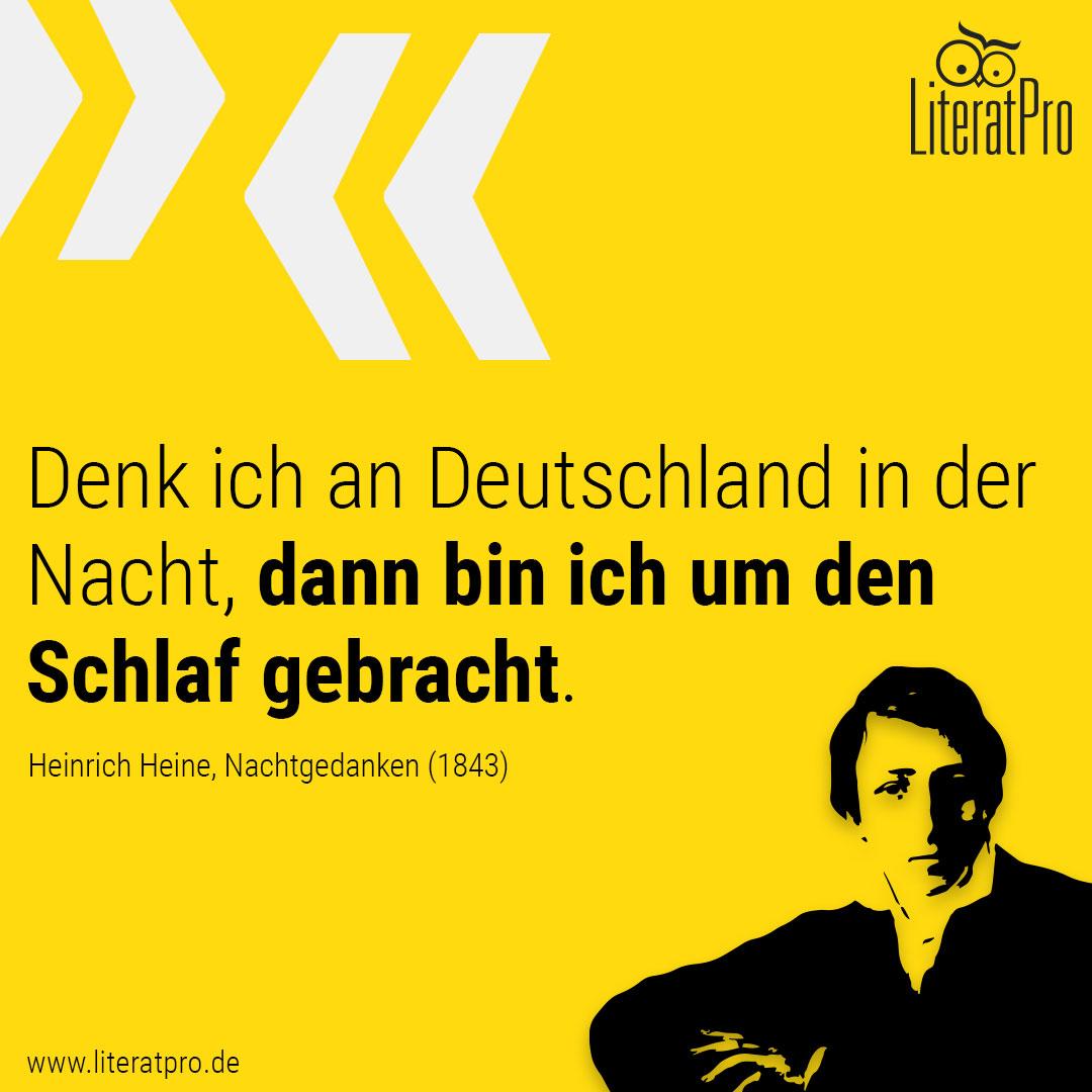 Nachtgedanken - Heinrich Heine | LiteratPro