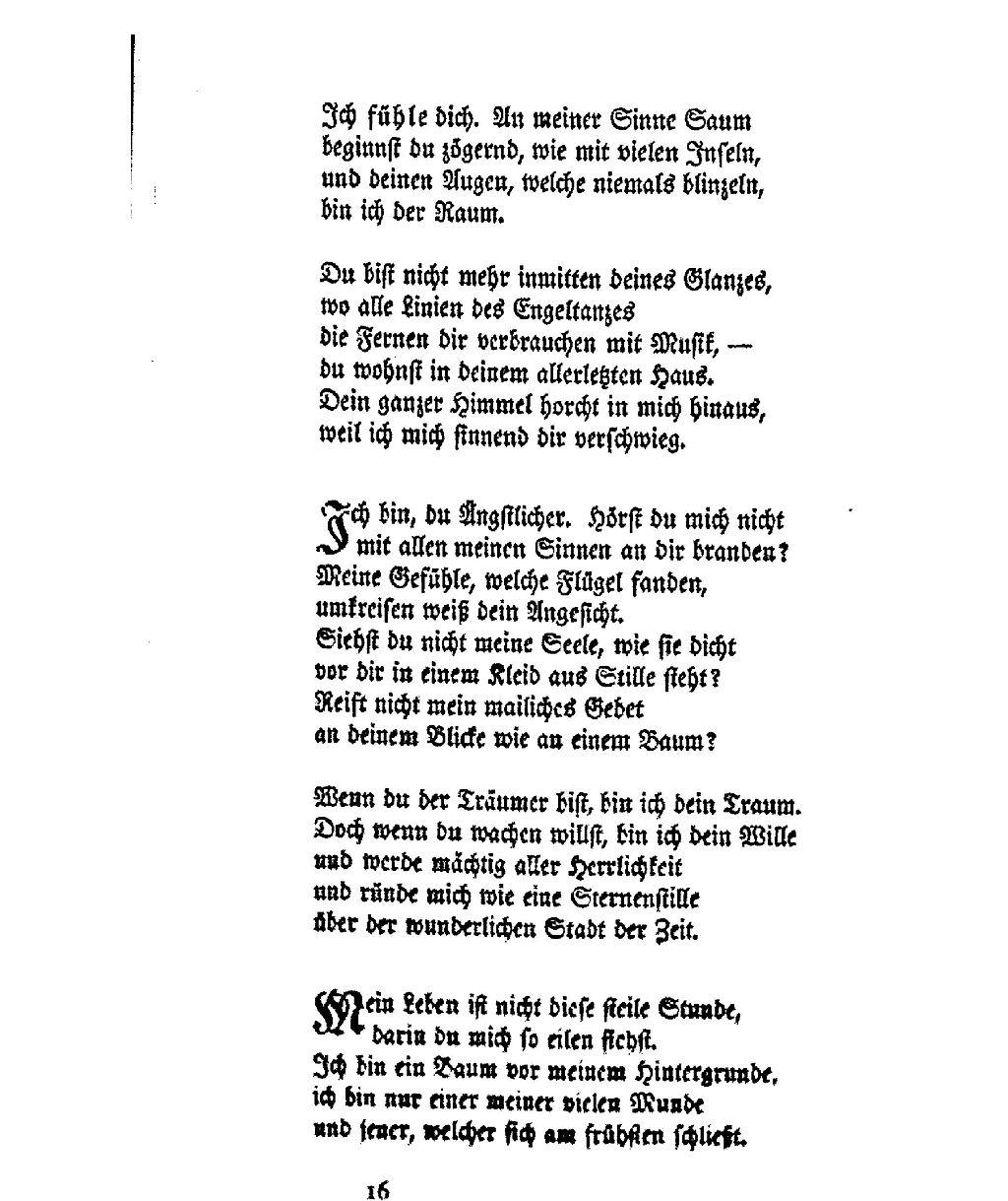 Rilke gedichte fragen antworten