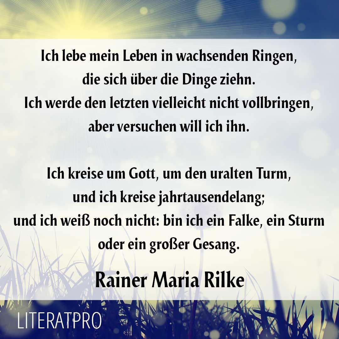 Rainer maria rilke gedichte leben