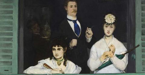 Bildausschnitt aus Der Balkon von Édouard Manet