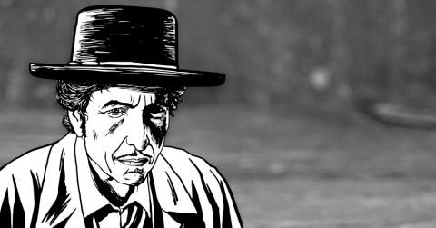 Bild einer Bob Dylan Illustration 2016