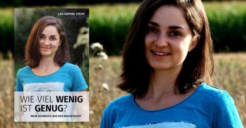 Bild zeigt Lea-Sophie Steiff mit Buch über Magersucht Wieviel wenig ist gesund
