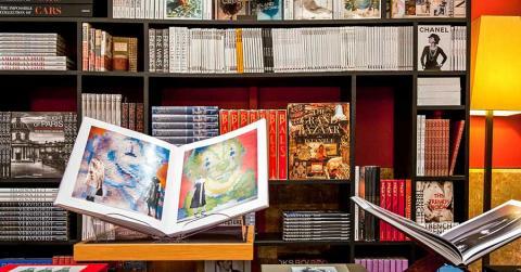Bild zeigt Bücher im Buchladen