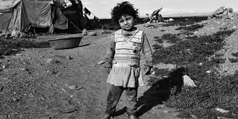 Porträt eines Flüchtlingskindes in der Türkei