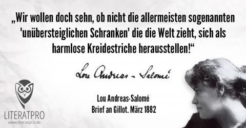 Bild vom Zitat von Lou Andreas-Salomé