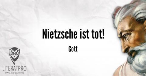 Bild zum Spruch von Gott - Nietzsche ist tot