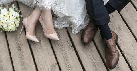 Bild eines Brautpaares