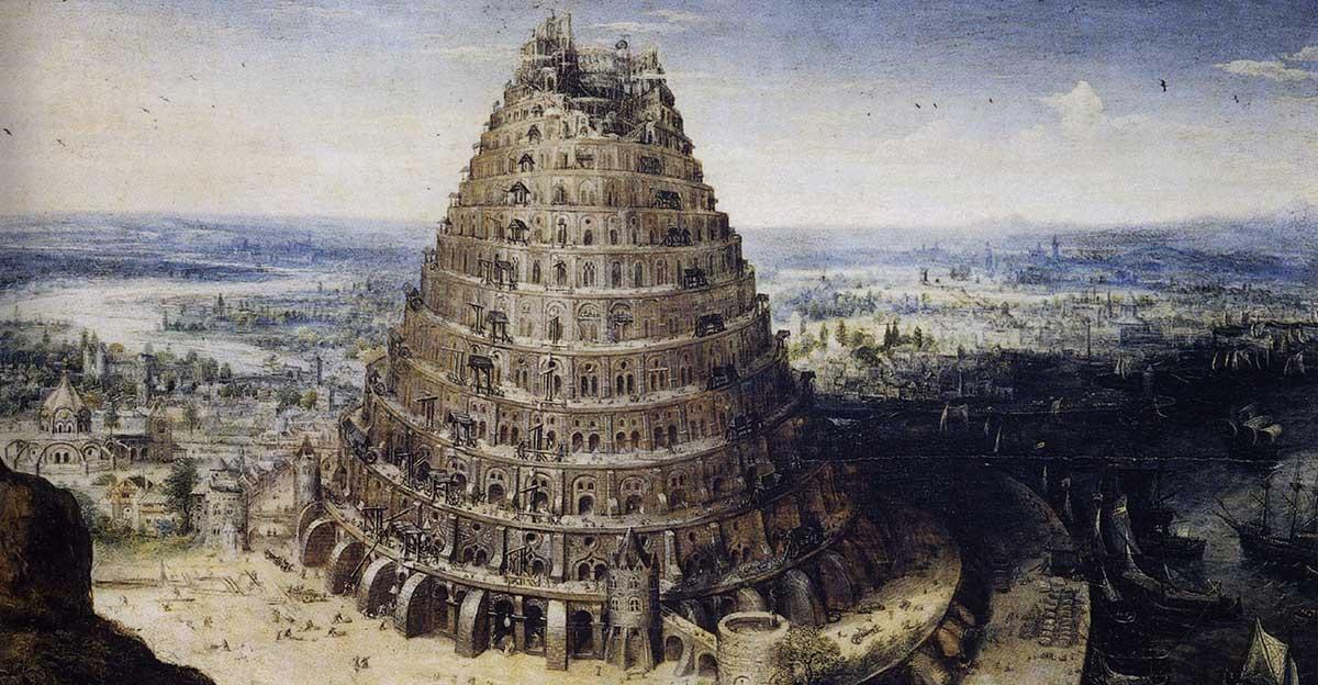 Bild zeigt Der Turmbau zu Babel nach Lucas van Valckenborch