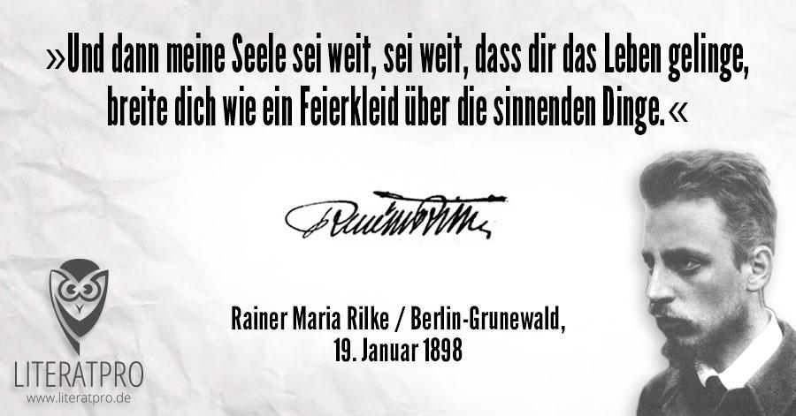 Bild zum Zitat von Rainer Maria Rilke